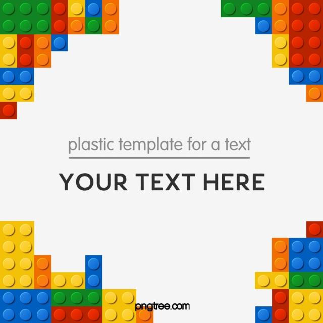 Toy color blocks decorative. Lego clipart banner