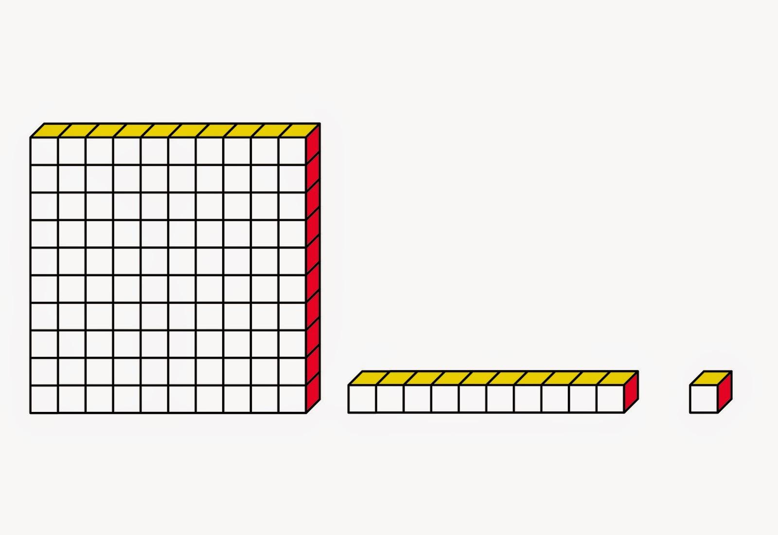 Base ten blocks free. Block clipart one