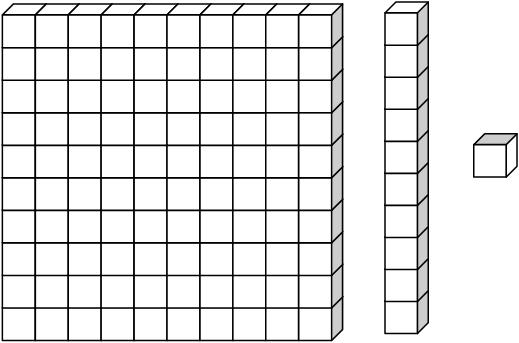 Block clipart one. Tens