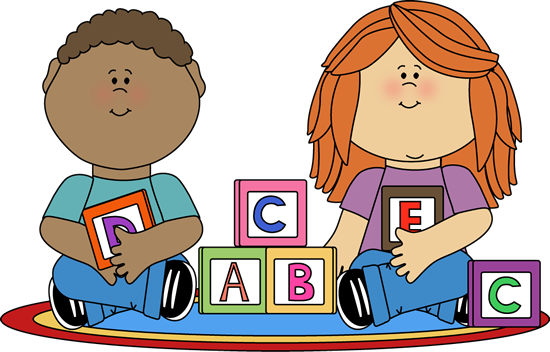 Centers clipart. Kids playing with blocks