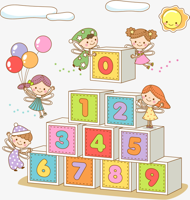 Cartoon kids blocks children. Block clipart play block