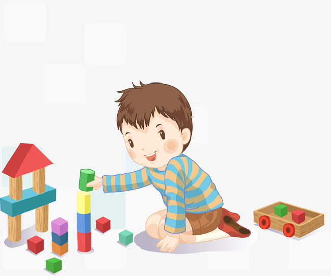 Block clipart play block. Illustration blocks children building