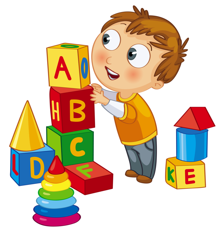 kids playing clipart clip art kid playing blocks clock time