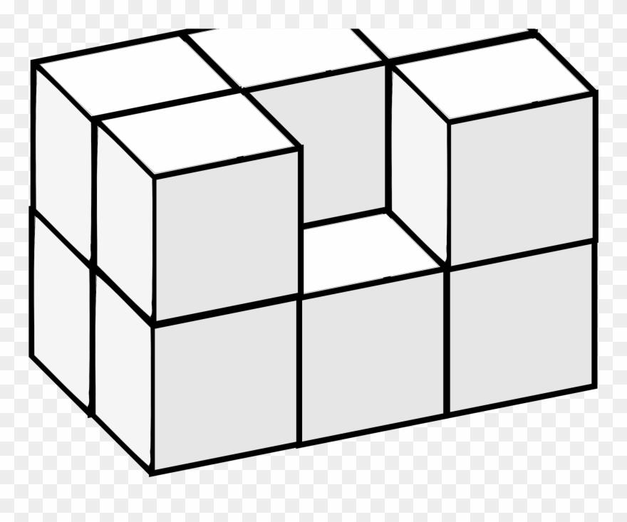Block clipart rectangle. Big image d cube