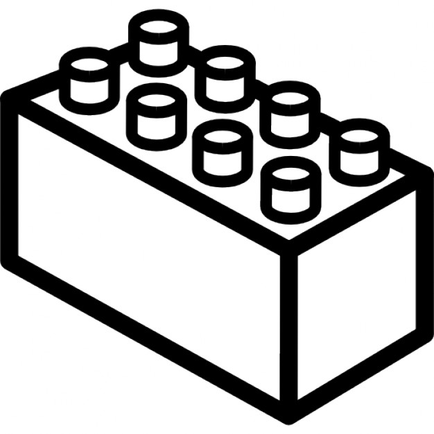 Objects black and white. Block clipart rectangle