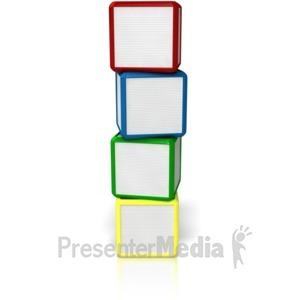 Presenter media powerpoint templates. Blocks clipart blank block