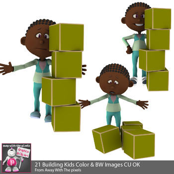 Block clipart towers. Kids building with blocks