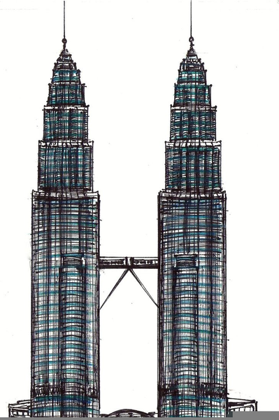Block clipart towers. Twin free images at