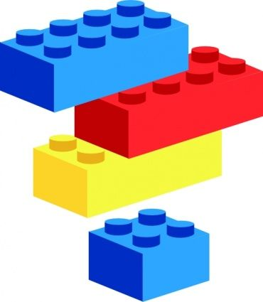 Legos clipart builds. Children at play clip