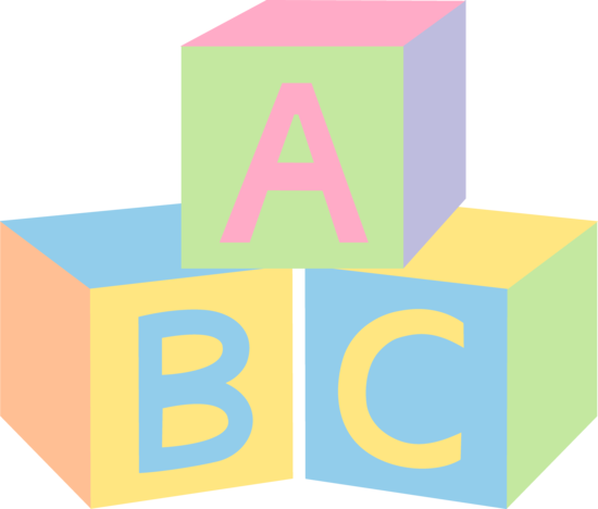 Blocks clipart transparent background. Abc clip art baby
