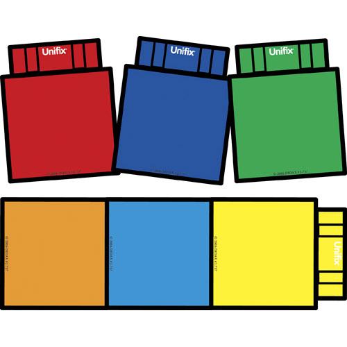 Block clipart unifix. Large magnets set of