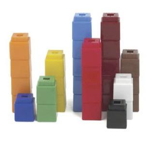 Block clipart unifix. Cubes for first grade