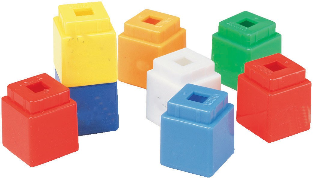 Play math early skills. Block clipart unifix