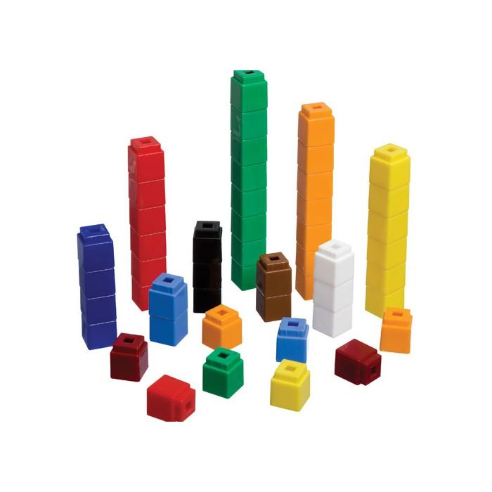 Cubes each of colours. Block clipart unifix