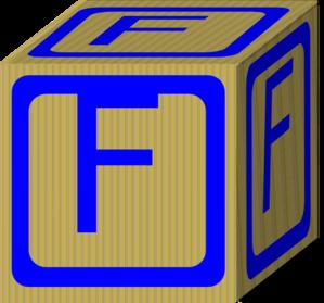 Block clipart vector. Letter alphabet f clip