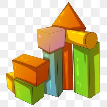 Building blocks png psd. Block clipart vector