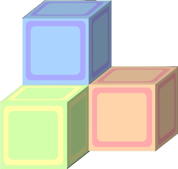 Tri baby plain pastel. Block clipart vector