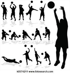 Design element from sportsartzoo. Block clipart volleyball