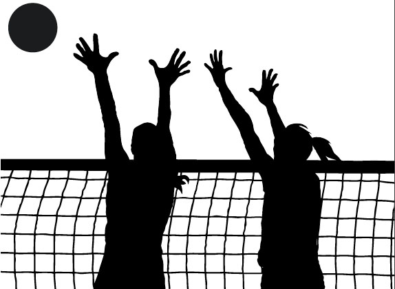 Jpg black and white. Block clipart volleyball