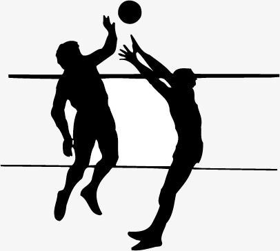 Movement sketch png image. Block clipart volleyball