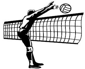 collection of indoor. Block clipart volleyball