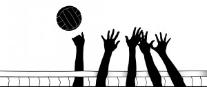 Awesome and free court. Block clipart volleyball