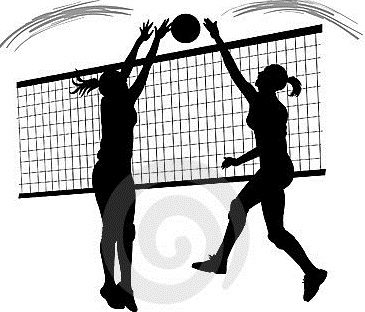 collection of high. Block clipart volleyball