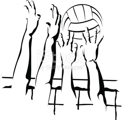Block clipart volleyball. Vector illustration of a