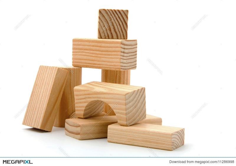 Block clipart wood block. Wooden building blocks stock