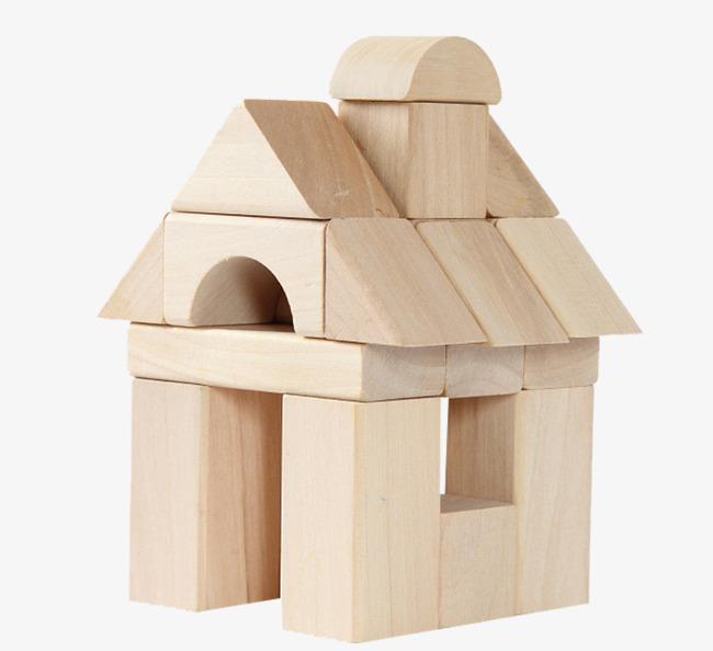 Block clipart wood block. House building blocks housing