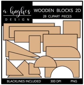Block clipart wood block. Wooden blocks d a