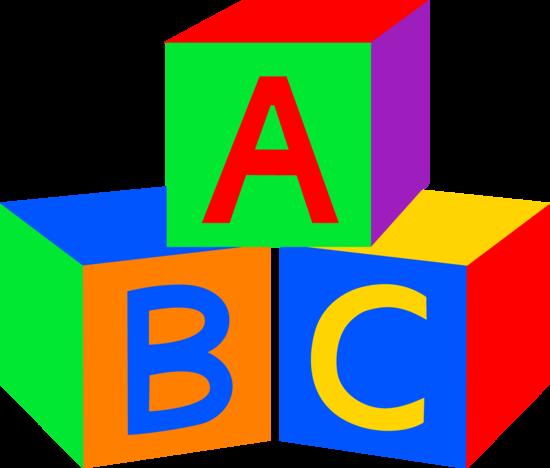 Block clipart abc. Baby blocks free clip