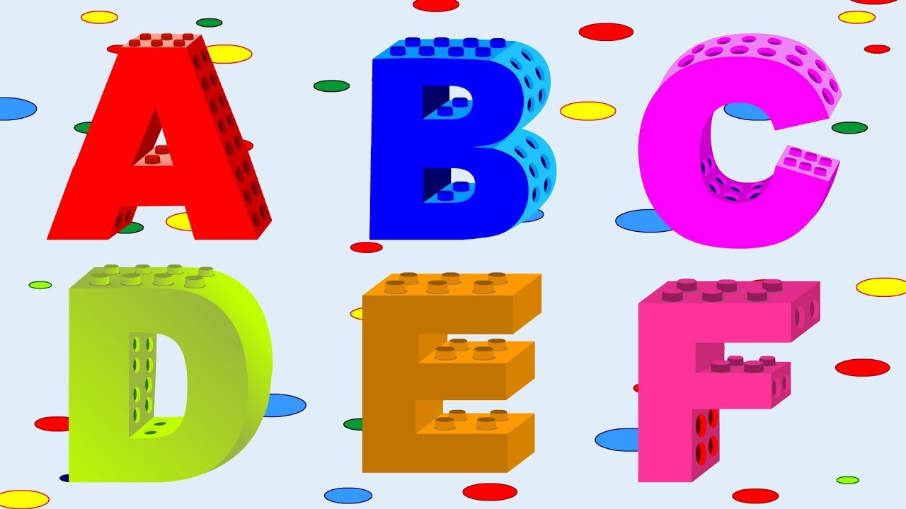 Alphabet songs with building. Blocks clipart abcd