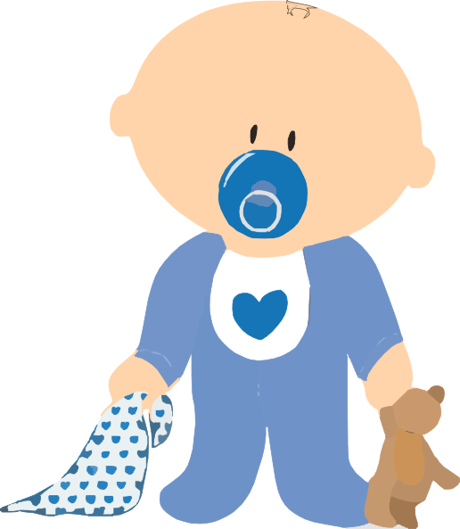 Infant clipart three baby. Boy with teddy clip