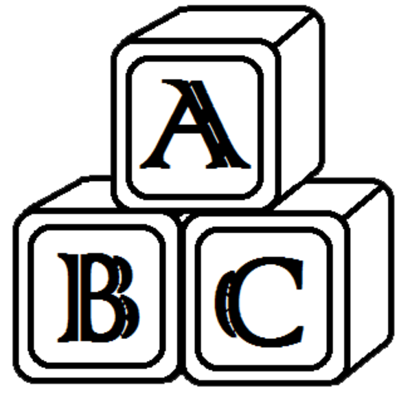 Building blocks free images. Number 1 clipart block