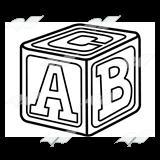 Blocks clipart black and white. Block clip art letters