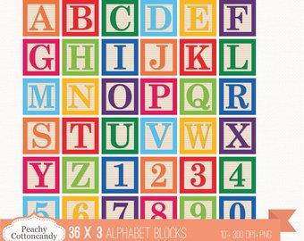 Blocks clipart blank block. Alphabet etsy buy get