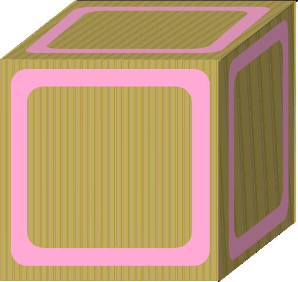 Block clipart blank block. Plain pink clip art