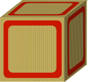 Plain red baby clip. Blocks clipart blank block