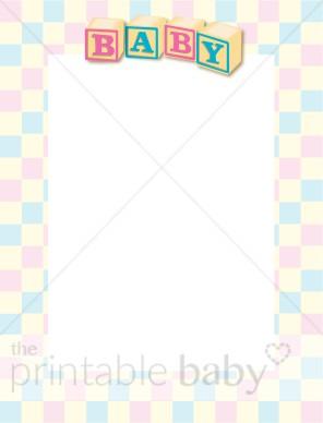 Baby blocks pin and. Block clipart border