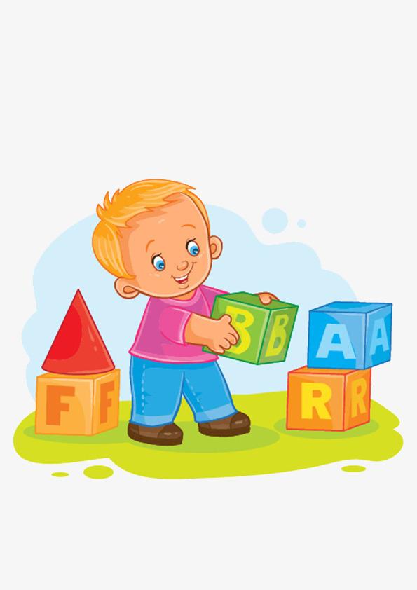 Blocks clipart cartoon. Baby play toys building