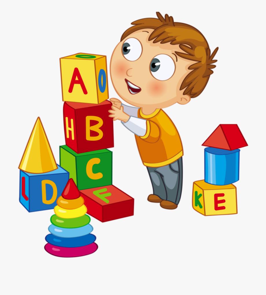 Kids playing children clip. Blocks clipart cartoon