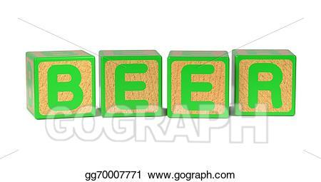 Blocks clipart colored block. Stock illustration beer childrens