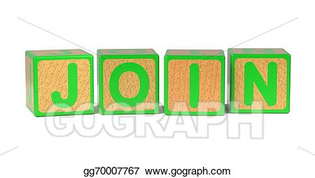 Drawing join childrens alphabet. Blocks clipart colored block