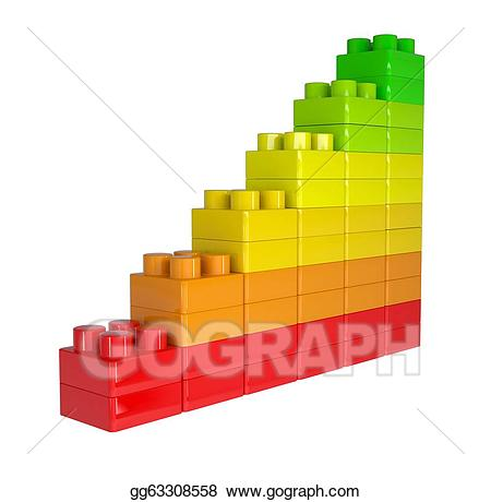 Stock illustration staircase of. Blocks clipart colored block