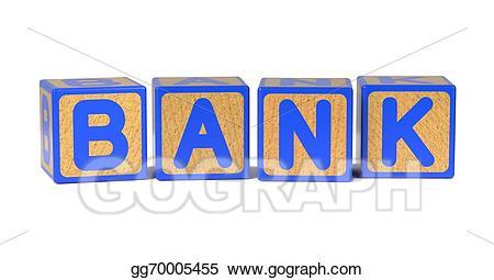 Blocks clipart colored block. Stock illustration bank childrens