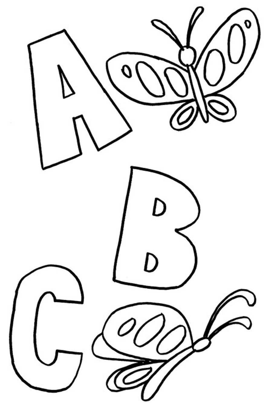Abc clipart outline. Blocks coloring pages page