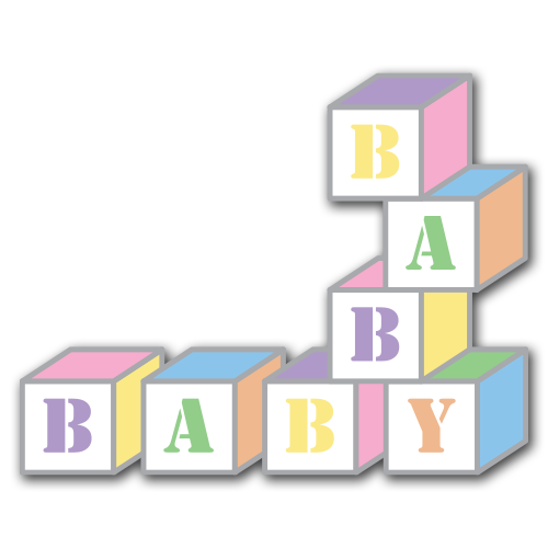 Free baby cliparts download. Blocks clipart cute