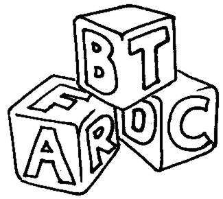 Blocks drawing at getdrawings. Abc clipart outline