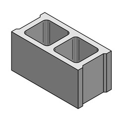 Blocks clipart hallow. And pavers hollow solid